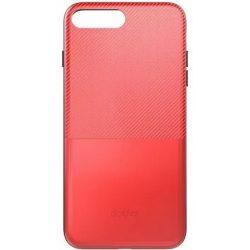 "Dotfes G02 iPhone 6 6S Plus (5,5"") piros carbon prémium hátlap tok"