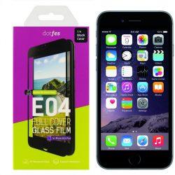 Dotfes E04 - iPhone 6/6S Plus Full Coverage Kijelzővédő Üvegfólia 0.33 - Fekete