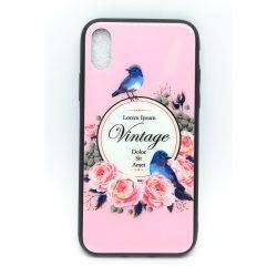PM - Apple iPhone X/XS Üveges Mintás Tok - Vintage