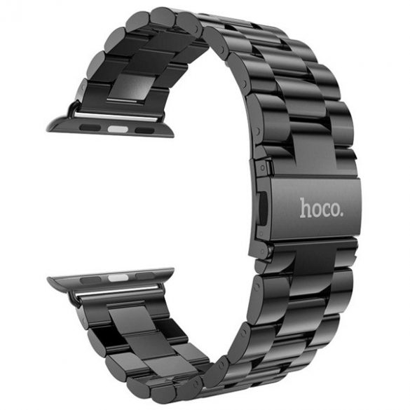 Grand series 3 soros fém rozsdamentes acél óraszíj Apple Watch 38 mm - fekete