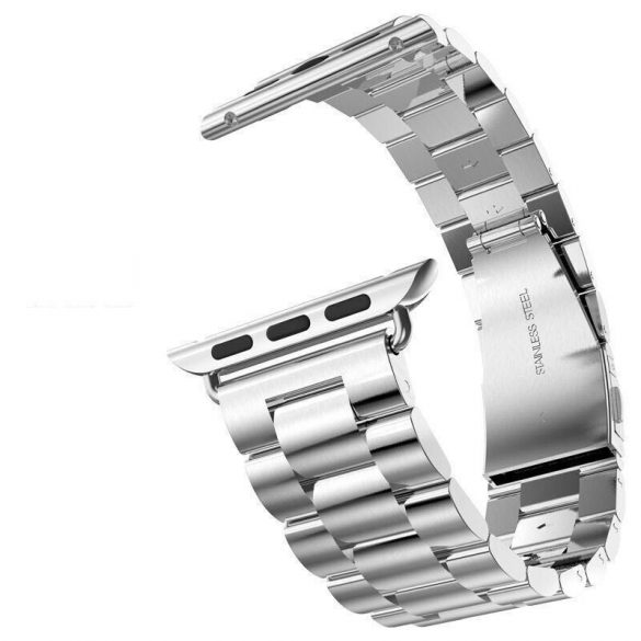 Grand series 3 soros fém rozsdamentes acél óraszíj Apple Watch 38 mm - ezüst