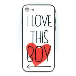 PM - Apple iPhone 7/8 Üveges Mintás Tok - Love this Boy
