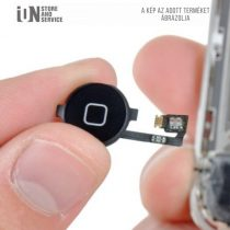 SZERVIZ - iPhone 4 Home gomb csere - Fekete ( külső műanyag+kábel)
